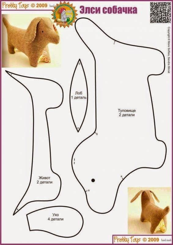 Słodko-Gorzka Kropka: jak uszyć psa - szablony