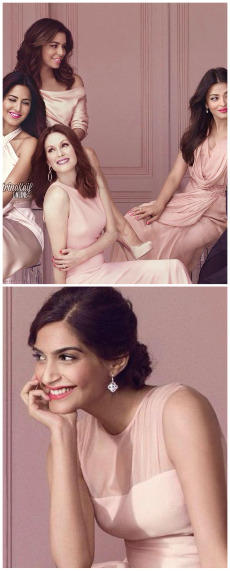 Hot to Handle! Sonam, Aishwarya and Katrina pose together .