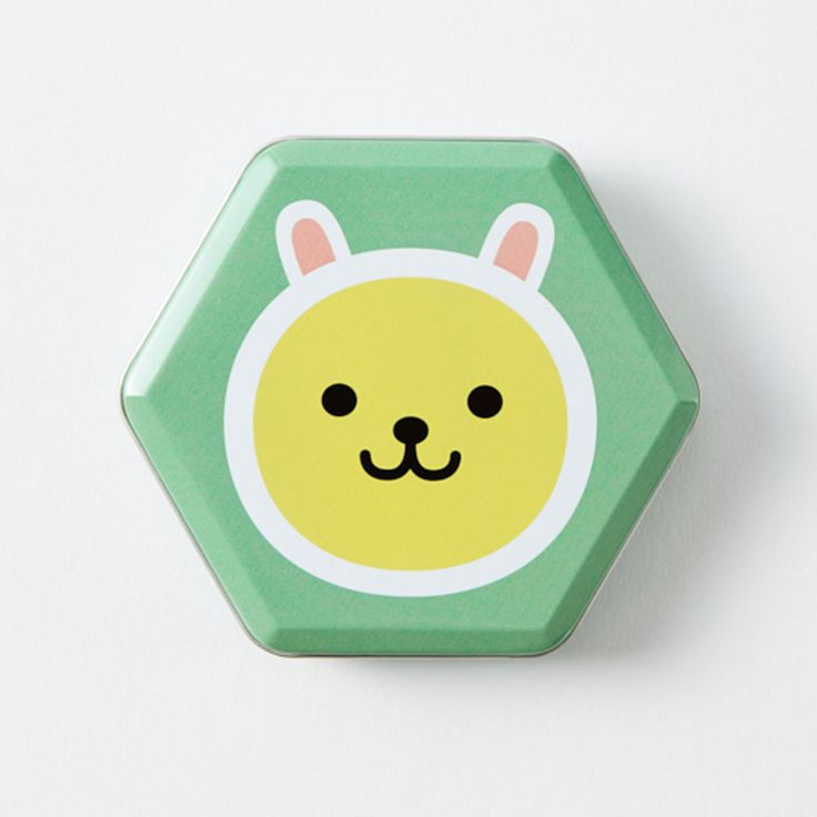 New Korea Kakao Talk Friends Cute Kawaii Character Hexagon 10cm 4in Tincase Muzi #KakaoFriends