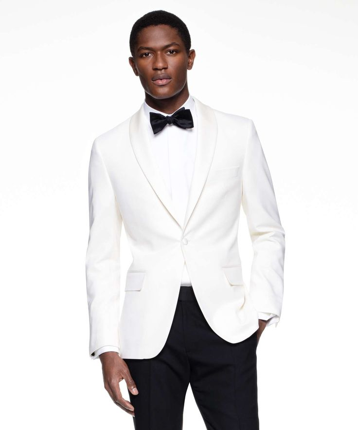 TODD SNYDER SUTTON SHAWL COLLAR TUXEDO JACKET IN IVORY ITALIAN WOOL. #toddsnyder #cloth #all
