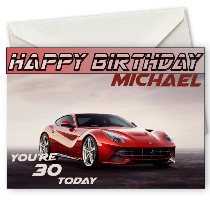 Personalised Ferrari Birthday Card