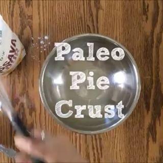 paleo pie crust, egg & dairy free |