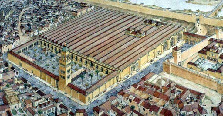 Mezquita Aljama de la Córdoba Omeya (dibujo de Miguel Sobrino)