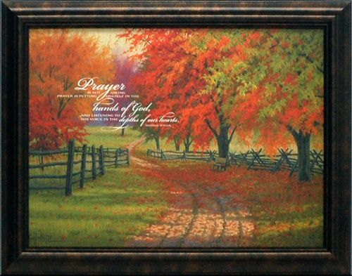 artistic reflections prayer is not asking wholesale framed inspirational autumn landscape art print - Wholesale Art And Frames