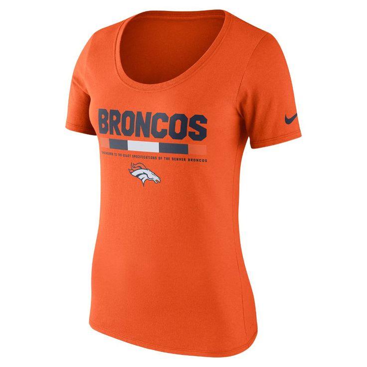 Nike Team Scoop (NFL Broncos) Women's T-Shirt Size