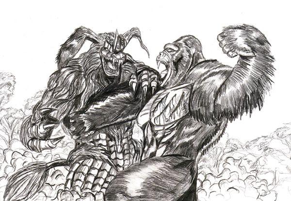 king kong v king caesar kaiju art pinterest king