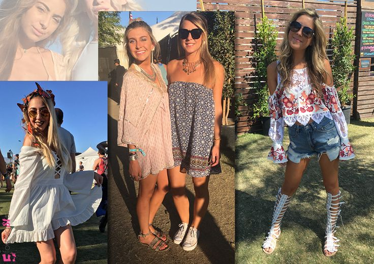 Fashion Highlights from Coachella 2016: THE MOST WORN MUST HAVES. loose fitting silhouettes and off shoulder gypsy tops