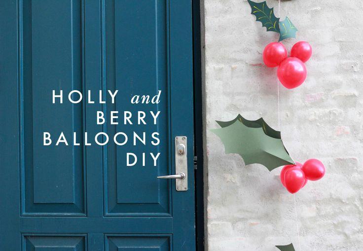 DIY Holly & Berry Balloon Garland |Hellobee: