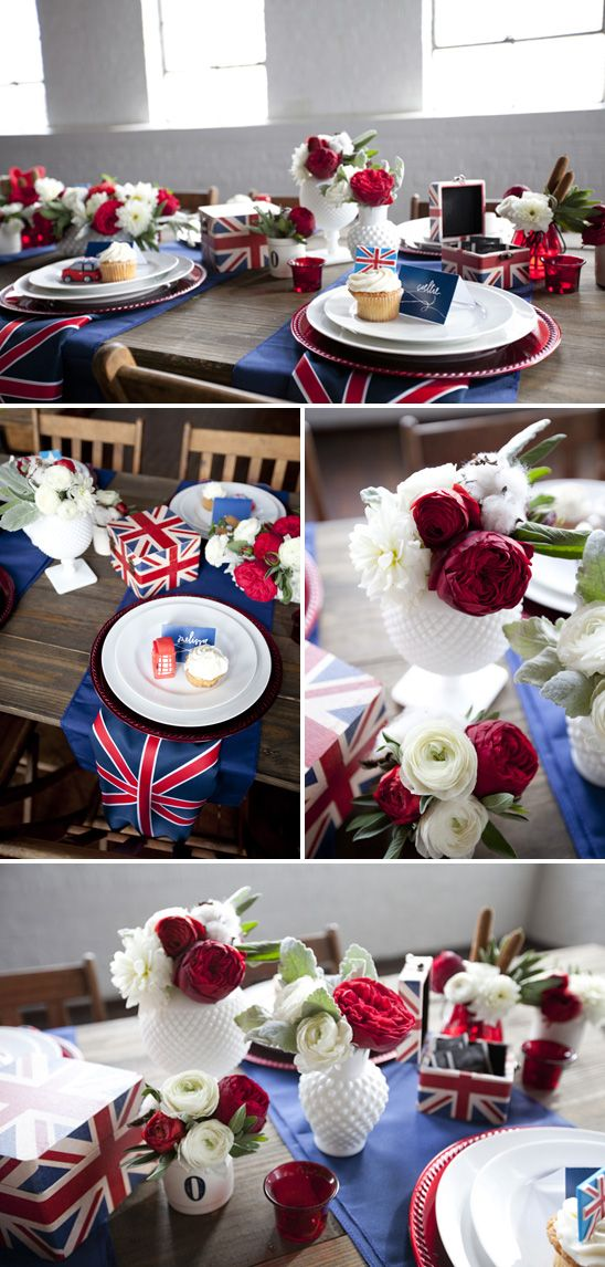 British Inspired Baby Shower........ I love it, @Faith Lindsey !