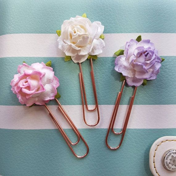 Check out this item in my Etsy shop https://www.etsy.com/uk/listing/456562004/pretty-rose-planner-paperclips-set-of-3