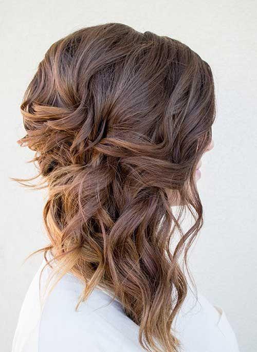 low side bun frisuren für lockiges haar