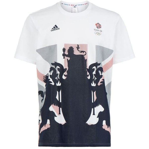 Adidas Originals Team GB Flag Print T-Shirt (£30) ❤ liked on Polyvore featuring men's fashion, men's clothing, men's shirts, men's t-shirts and adidas originals