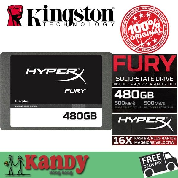 1990.00$  Watch now - http://alivjv.worldwells.pw/go.php?t=32723134644 - Kingston HyperX Fury SSD 512GB 480gb SATA external hard drive disco duro externo laptop portable solid state disk lot wholesale