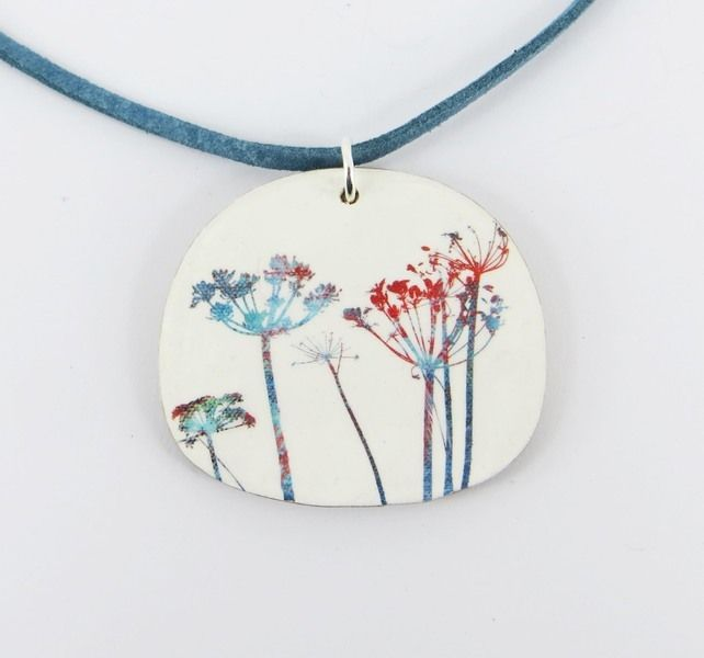 Colourful Wild Flower Pendant £16.00