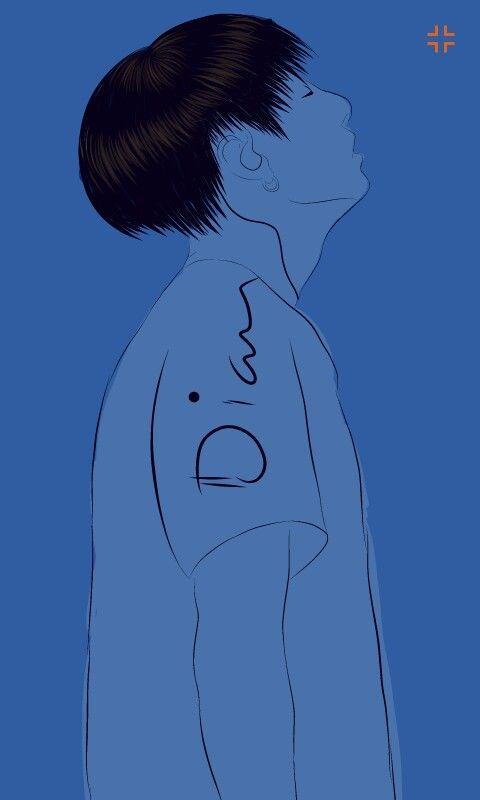 Fanart Jeon Jungkook BTS #fanart #jungkook #kookie #BTS #Blue Fanart by: @dii_nta