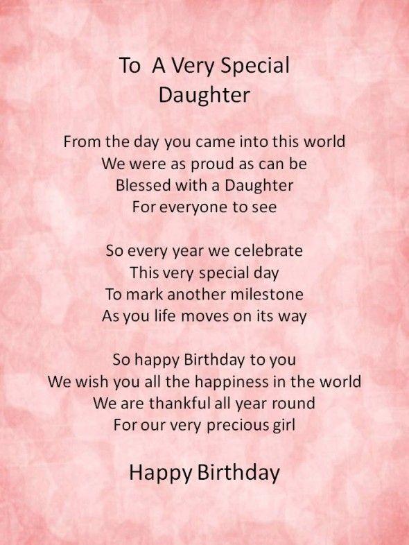 Happy Birthday Poems From Daughter http://www.happybirthdaywishesonline.com/