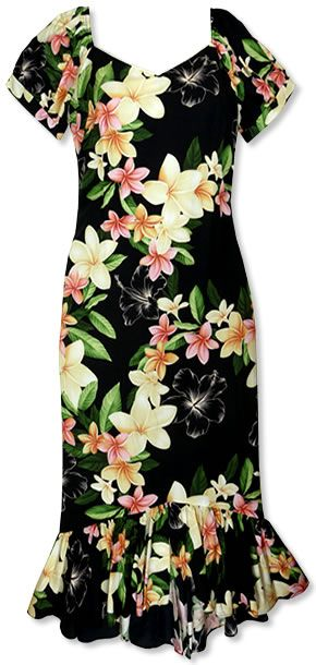 Malama Pebble Hawaiian Dress