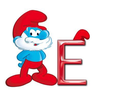 free alphabet, smurf alphabet, a-z, png graphics, letter clipart