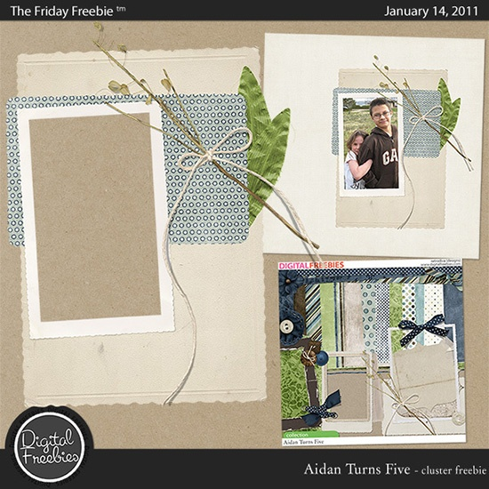 Aidan Turns Five - Digital Scrapbooking Freebie