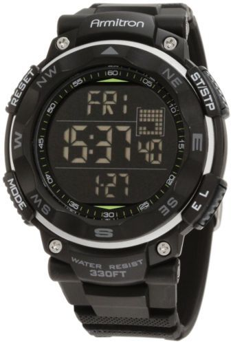 Armitron-Sport-Mens-Black-Digital-Chronograph-Watch-Lap-Military-Time-Fitness