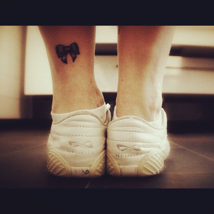 Infinity shoes Cheer bow tattoo