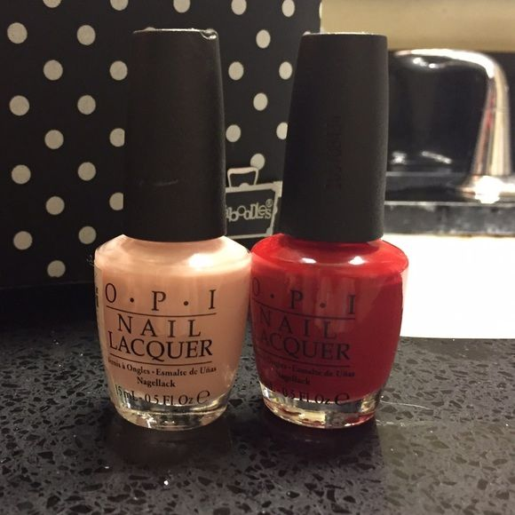 OPI nail polish set Two for one nail polish set. Bubble bath and big apple red. Barely been used!! Opi Accessories