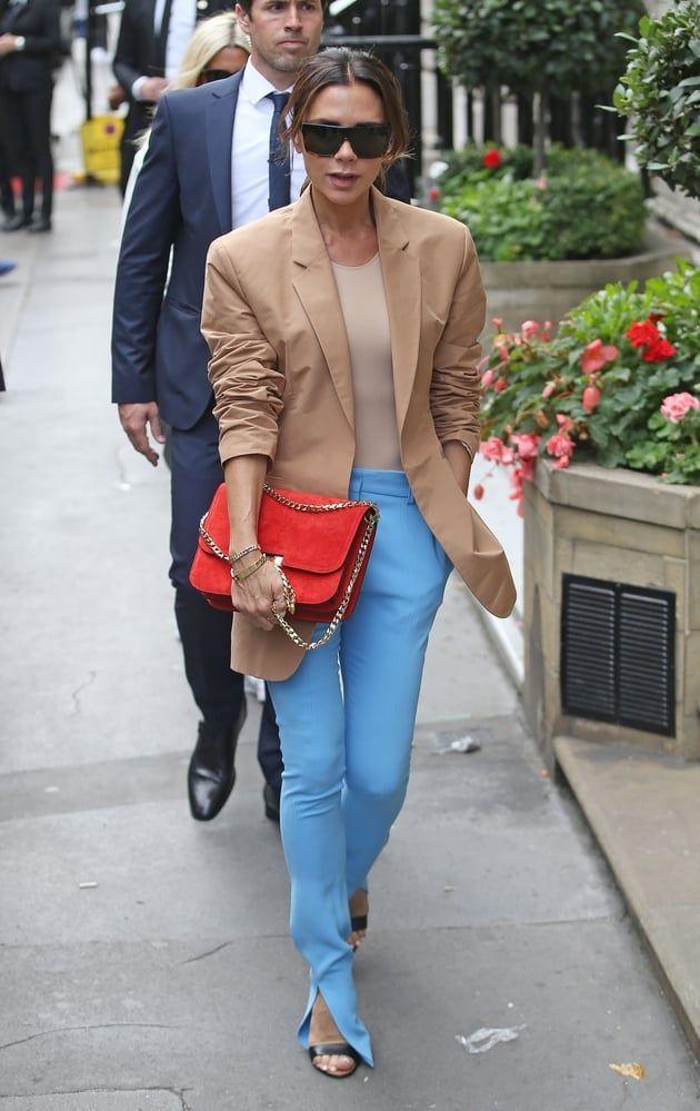 Pantalon Bleu En Blazer Skinny Beckham Camel Ciel Et Victoria m8wvOnN0