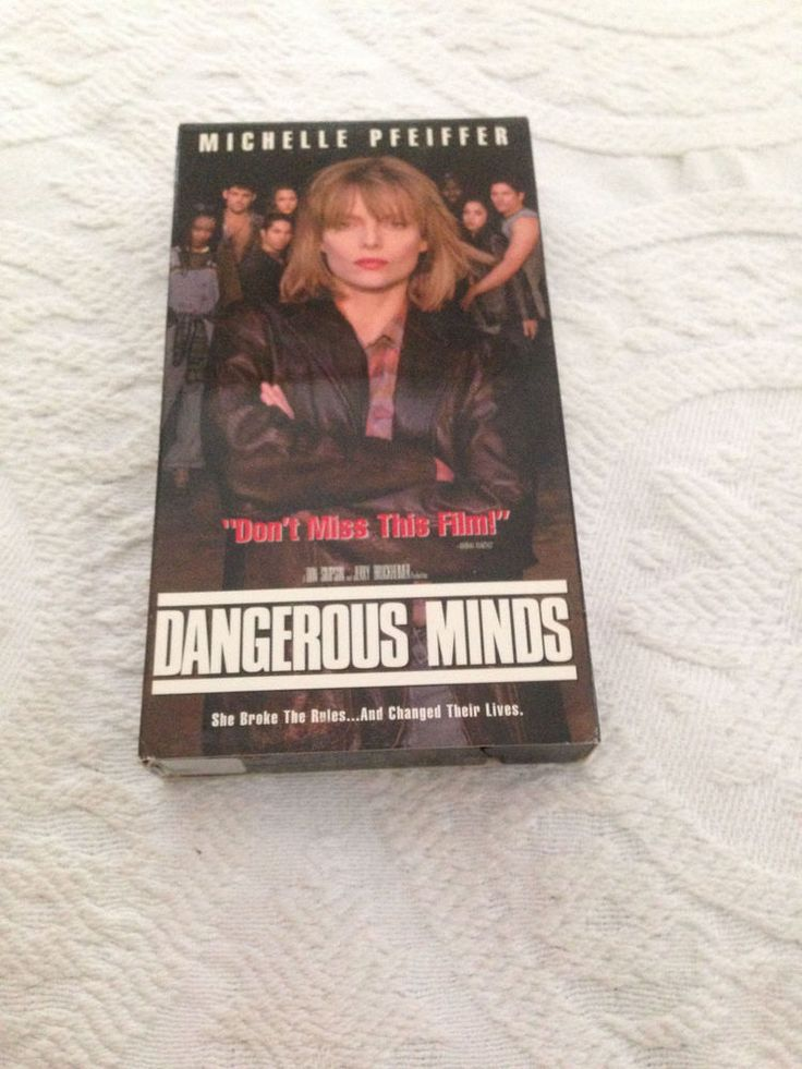 Dangerous Minds VHS 1997 Hollywood Pictures Michelle Pfeiffer NTSC R Drama