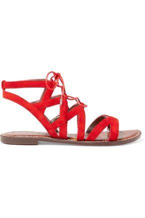 316ea78621e291 SAM EDELMAN WOMAN GEMMA SUEDE SANDALS RED.  samedelman  shoes