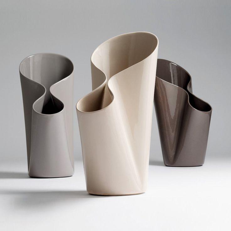 Umbravase vaso o portaombrelli grigio caldo lucido | complementi d'arredo | Prodotti | Bosa ★