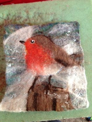 wet felting | Love. Make. Think.~ I think I'd love to be able to make something as lovely as this X
