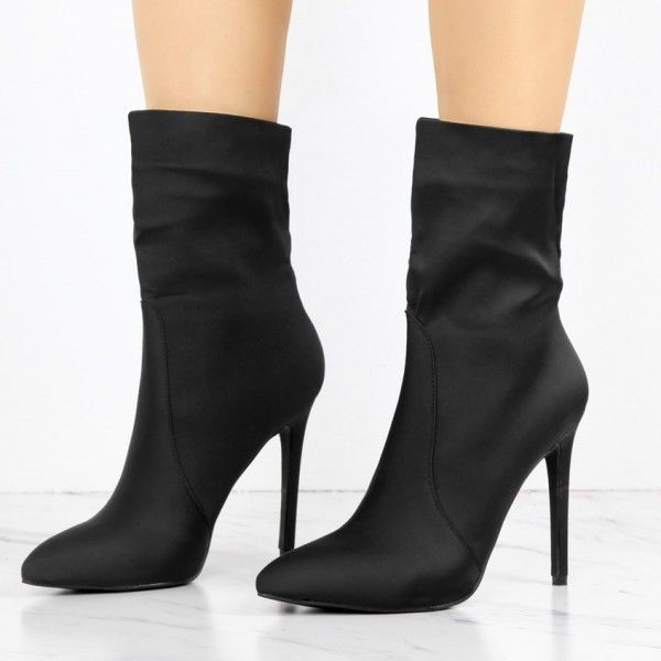 Women's Fall and Winter Fashion Ankle Booties Winter Outfits 2018 Bucket List Ideas La Outfits For Women Black 4 Inch Stiletto Heels Fashion Ladies Ankle Boots For Work Elegant Wedding Dresses Shoes Black Leather Skirt Shoes Prom Shoes For Women, Ball, Anniversary, Going Out| FSJ