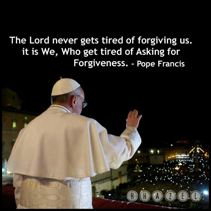 Pope Francis on forgiveness