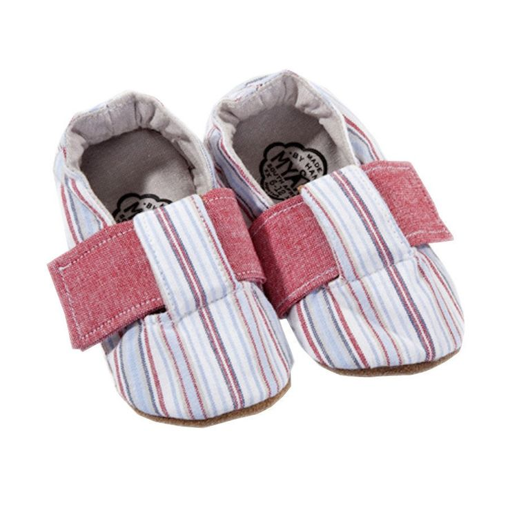 T-Bar Shoes- Nautical Stripe - Shoes - Baby Belle