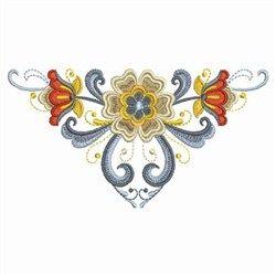 Rosemaling Motif embroidery design