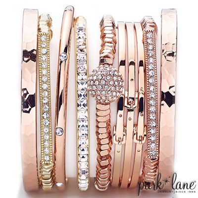 Rose Gold Arm Party  Park Lane Jewelry  www.myparklane.com/jpanicola