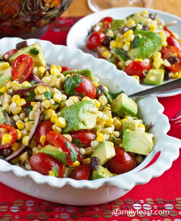 Avocado, Corn and Tomato Salad Recipe - RecipeChart.com