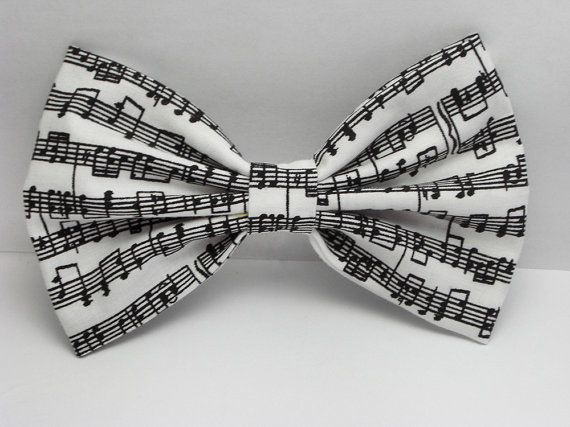 Musical Notes Hair Bow Clip Musical Notes Bow Music by JuicyBows, $4.99