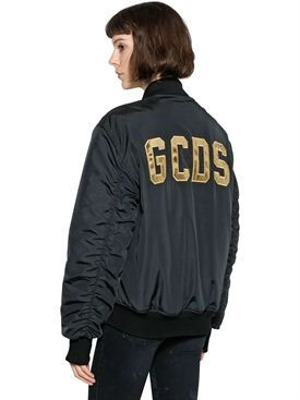 New Gcds Gcds Patch Nylon Bomber Jacket fashion online. [$966]wooclo top<<