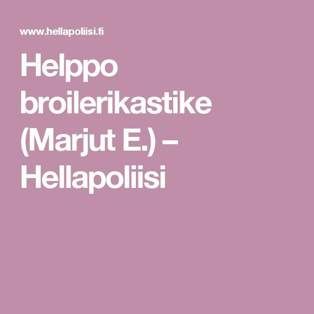 Helppo broilerikastike (Marjut E.) – Hellapoliisi