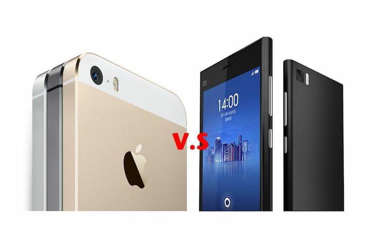 Xiaomi Mi3 vs  iPhone 5s     ComparativaXiaomi Mi3 Grey