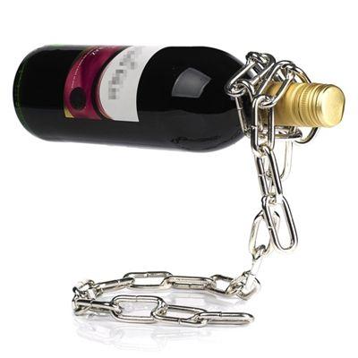 Lebegő bortartó lánc http://hobbyrendeles.hu/termek.3449.lebego_bortarto_lanc Ha kreatív ajándékot keresel férfiaknak karácsonyra, vagy meghökkentő lakberendezési tárgyra vágysz, akkor ne keress tovább! A lebegő bortartó ugyanis biztosan mosolyt csal a megajándékozott arcára! Meghökkentő első ránézésre, azonban teljesen stabil, ugyanis a palack egyensúlyozza ki. Ideális a bor fektetett tárolására, mert ugye így nem szárad ki a dugó. Egy jó bor kitűnő ajándék bármely alkalomra, legyen az…