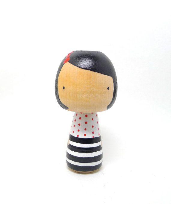 wooden kokeshi doll