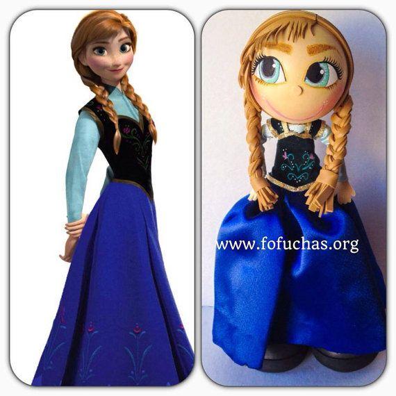 Anna from Frozen Fofucha Foam Doll by CrochetNFofuchas on Etsy, $30.50 #Frozen #Fofuchas #foamdolls