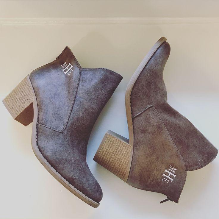 preppy monogram boots