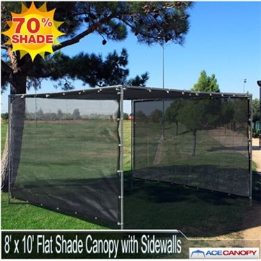 The 8x10 Flat Shade Canopy with Sidewalls features a flat roof mesh top and & 9 best Flat Mesh Tarp Shade Canopies images on Pinterest ...