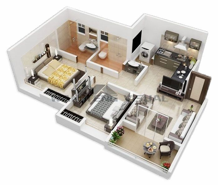 Floor Plan Online Learn How To Design And Plan Floor Plans House Plans Two Bedroom House Floor Plan Design