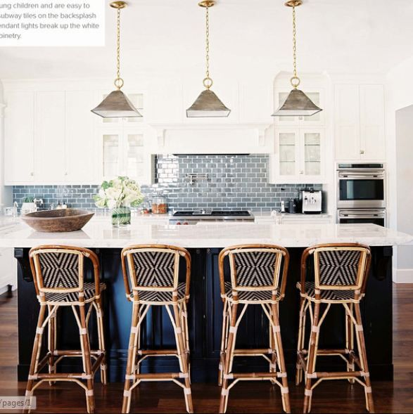 Copy Cat Chic Serena and Lily Riviera Counter Stool love backsplash color and bar stools.great color island with hits in chair matching & 20 best Counter Stools images on Pinterest | Counter stools Bar ... islam-shia.org