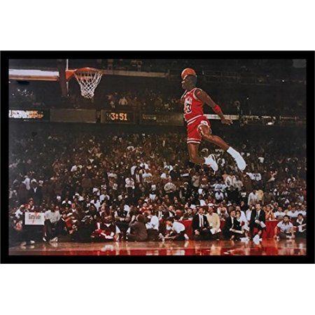 "buyartforless Framed "" Michael Jordan - Foul Line Dunk"" Sports Art Print post...  #buyartforless"