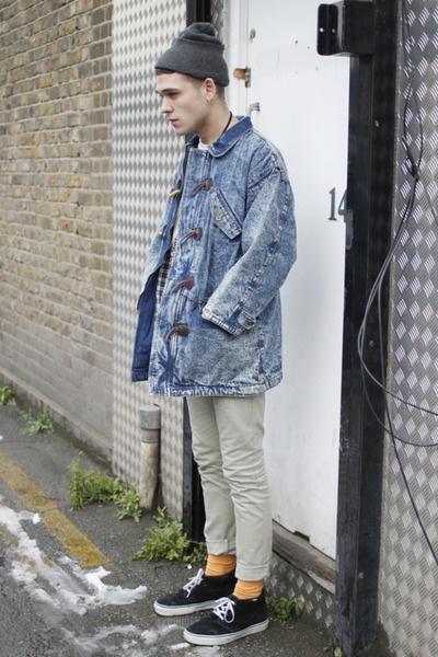Maong Jacket Beanie Vans Men 39 S Street Style Pinterest